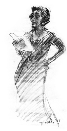 Drawing of P. K. Page by Heather Spears