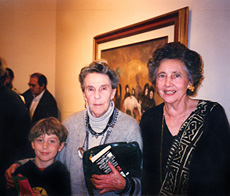 P. K. Page with Leonora Carrington and Leonora's grandson.